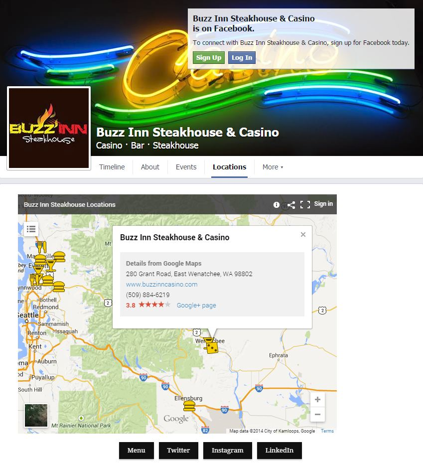 Facebook Page: Custom Locations Tab
